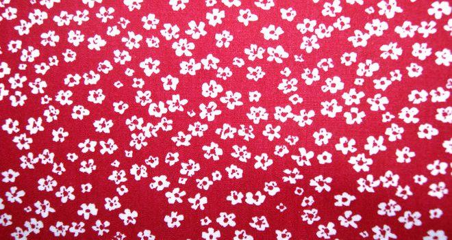 bloemetjes rood